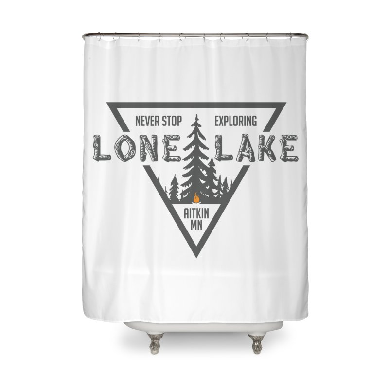 Lone Lake Home Shower Curtain by Your Lake Apparel & Accessories
