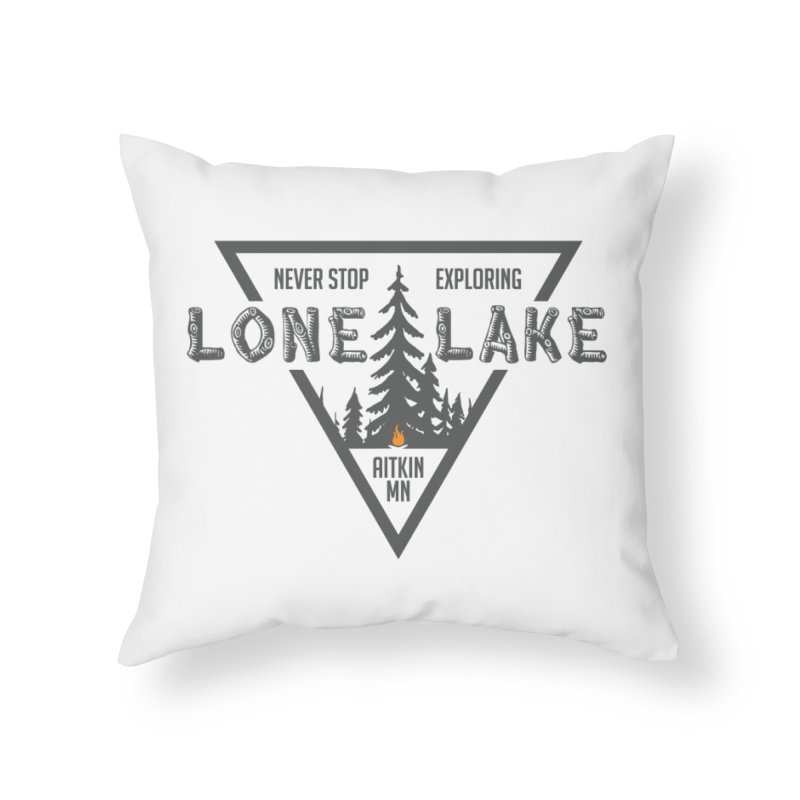 Lone Lake Home Throw Pillow by Your Lake Apparel & Accessories