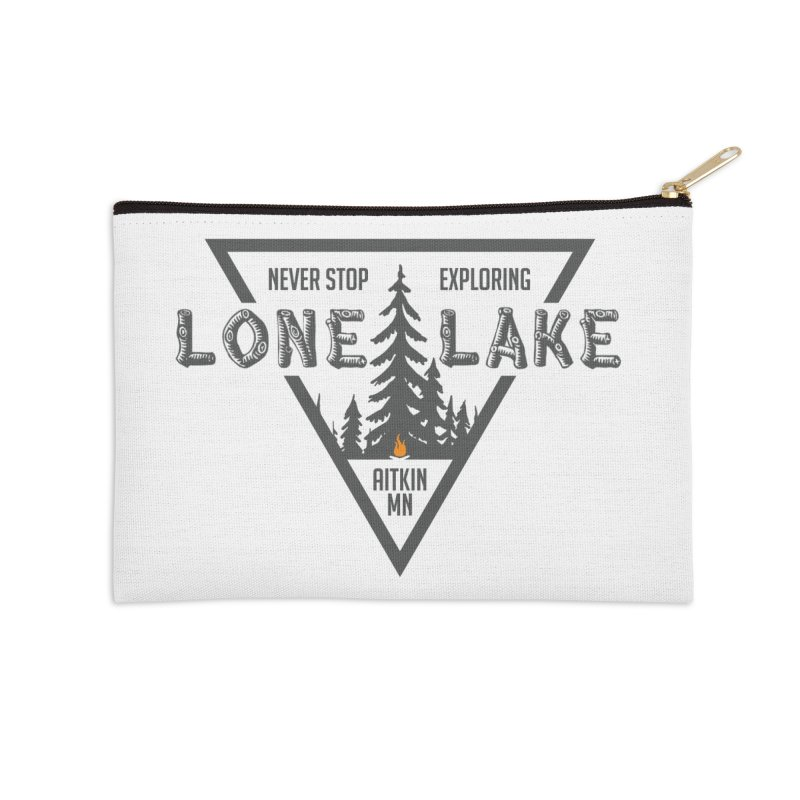 Lone Lake Accessories Zip Pouch by Your Lake Apparel & Accessories