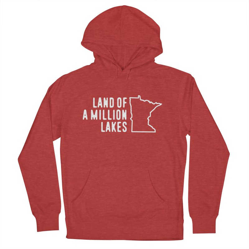 Minnesota Land of a Million Lakes Women's French Terry Pullover Hoody by Your Lake Apparel & Accessories