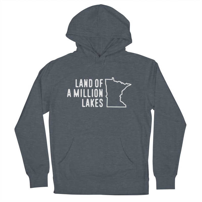 Minnesota Land of a Million Lakes Men's French Terry Pullover Hoody by Your Lake Apparel & Accessories