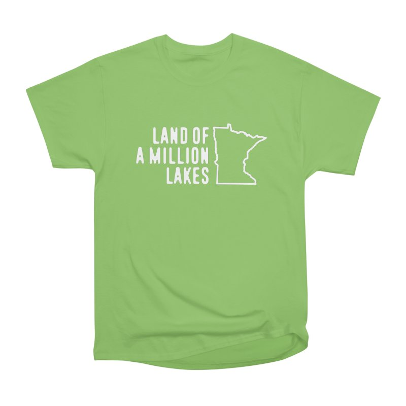 Minnesota Land of a Million Lakes Men's Heavyweight T-Shirt by Your Lake Apparel & Accessories