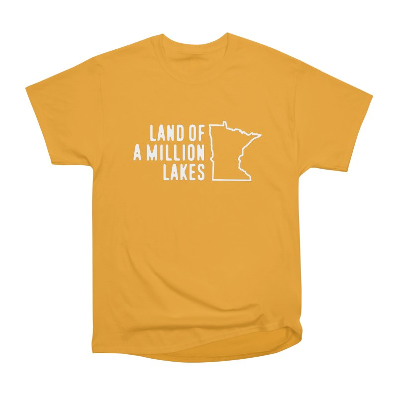 Minnesota Land of a Million Lakes Women's Heavyweight Unisex T-Shirt by Your Lake Apparel & Accessories