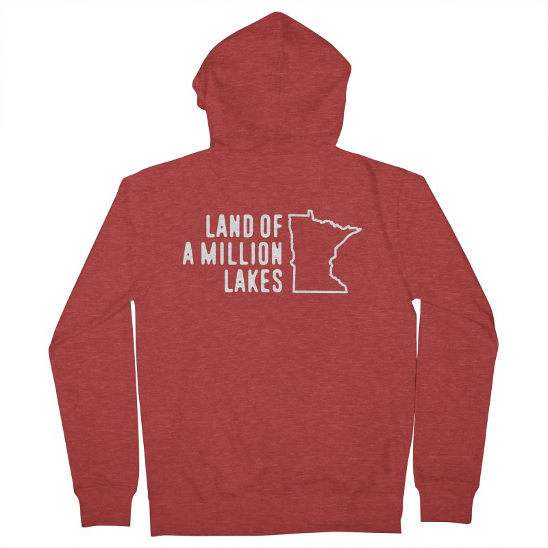 Minnesota Land of a Million Lakes Women's French Terry Zip-Up Hoody by Your Lake Apparel & Accessories