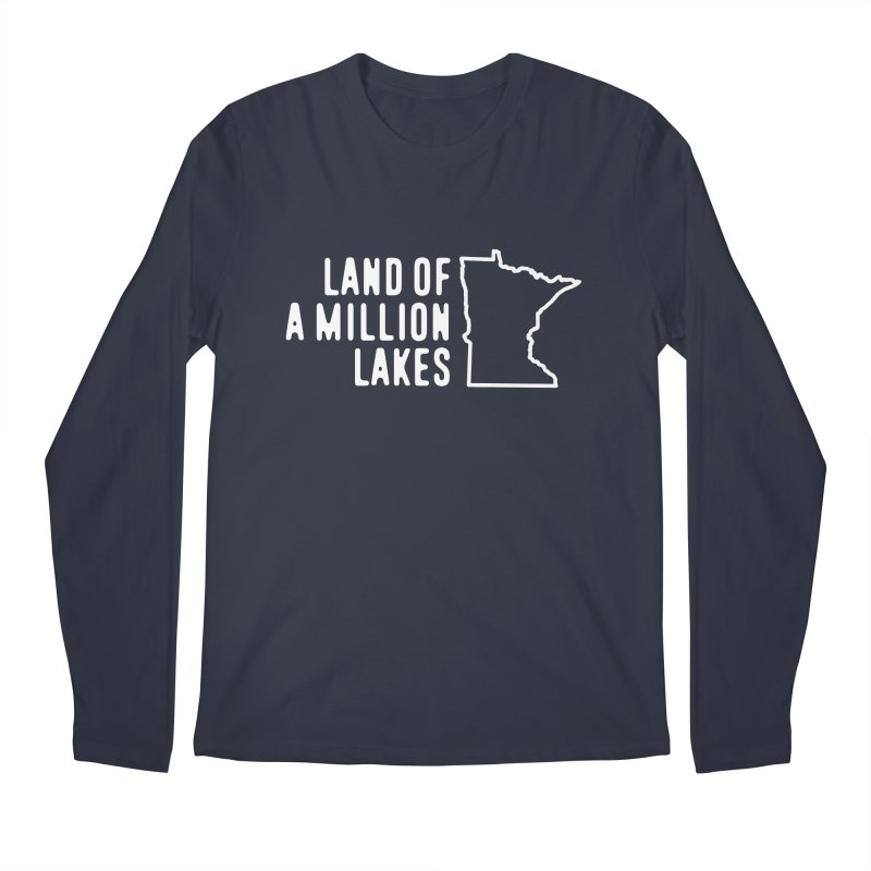 Minnesota Land of a Million Lakes Men's Regular Longsleeve T-Shirt by Your Lake Apparel & Accessories