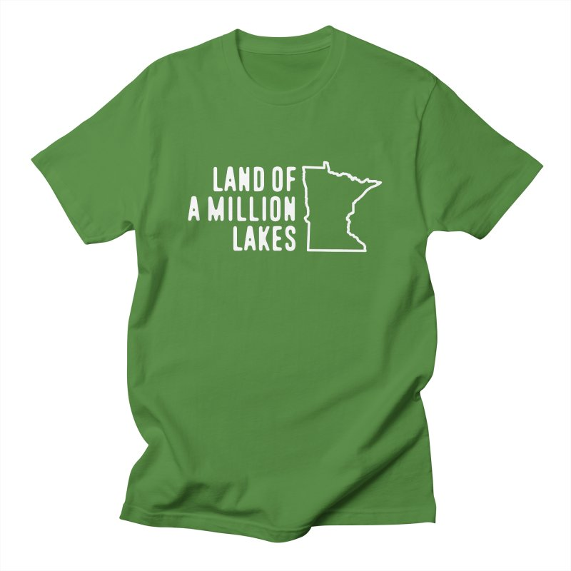 Minnesota Land of a Million Lakes Men's Regular T-Shirt by Your Lake Apparel & Accessories