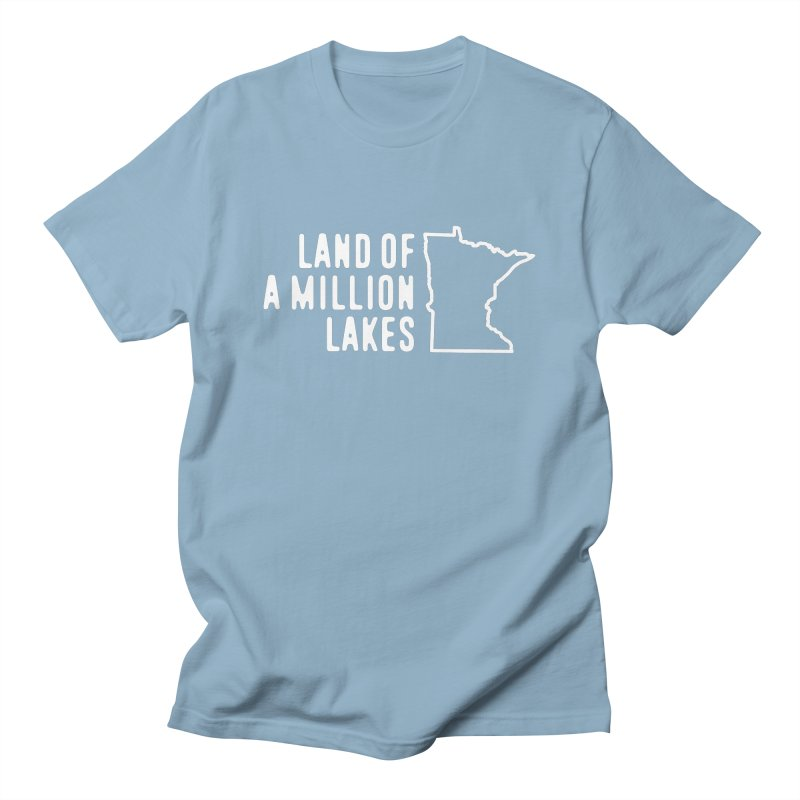 Minnesota Land of a Million Lakes Women's Regular Unisex T-Shirt by Your Lake Apparel & Accessories