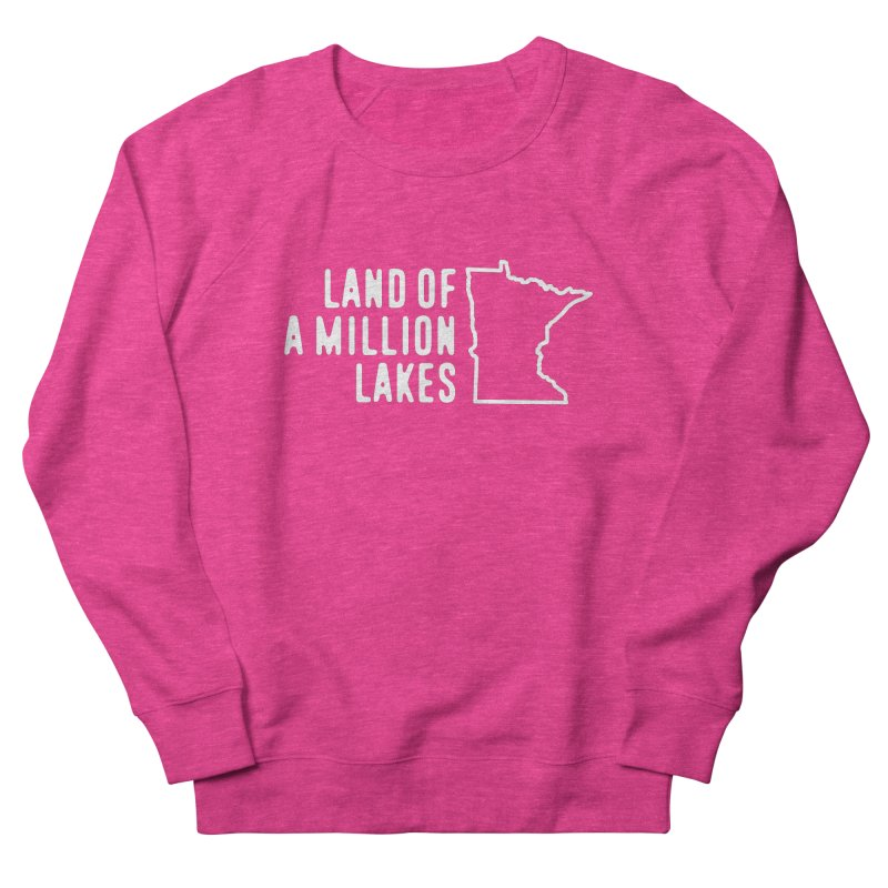 Minnesota Land of a Million Lakes Men's French Terry Sweatshirt by Your Lake Apparel & Accessories