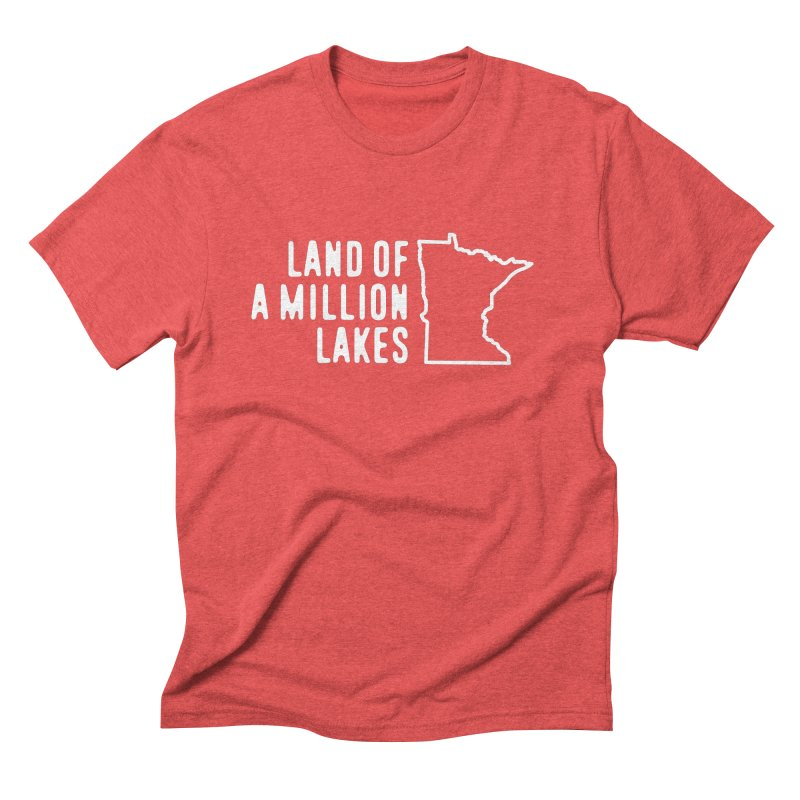 Minnesota Land of a Million Lakes Men's Triblend T-Shirt by Your Lake Apparel & Accessories
