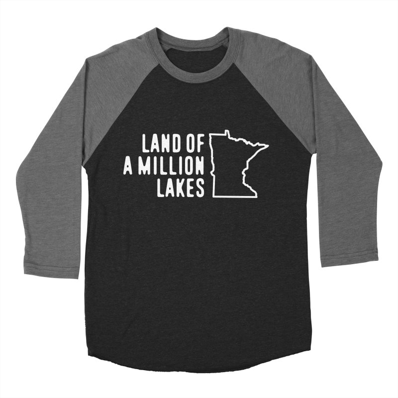 Minnesota Land of a Million Lakes Men's Baseball Triblend Longsleeve T-Shirt by Your Lake Apparel & Accessories