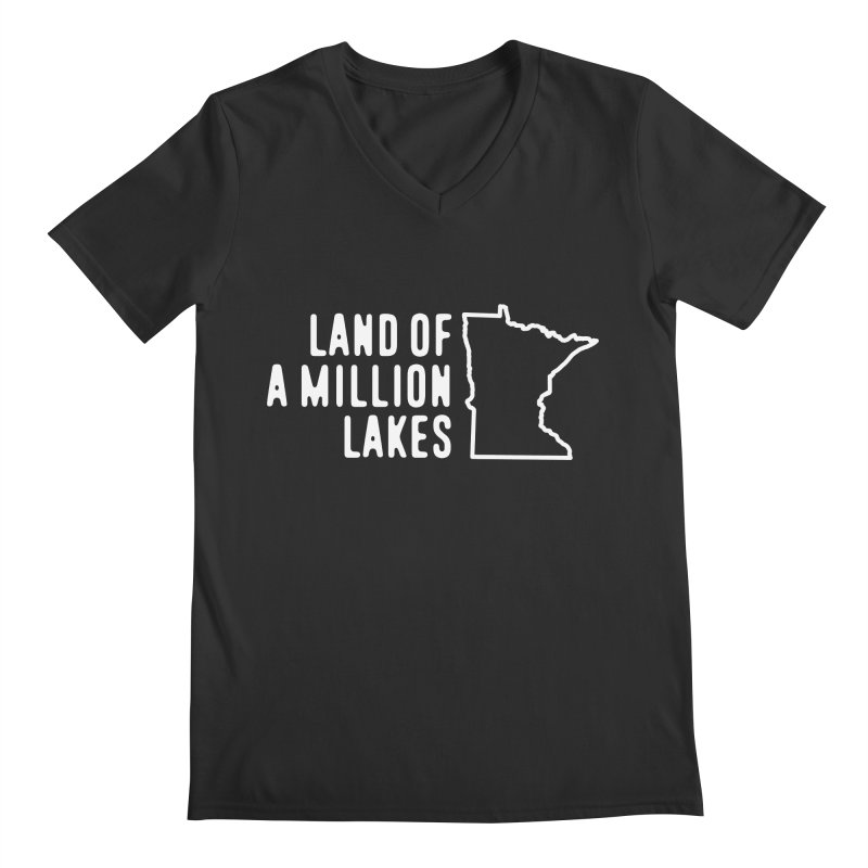 Minnesota Land of a Million Lakes Men's Regular V-Neck by Your Lake Apparel & Accessories