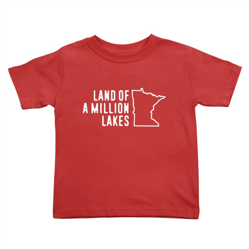 Minnesota Land of a Million Lakes Kids Toddler T-Shirt by Your Lake Apparel & Accessories