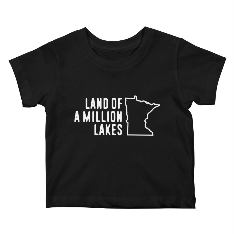 Minnesota Land of a Million Lakes Kids Baby T-Shirt by Your Lake Apparel & Accessories