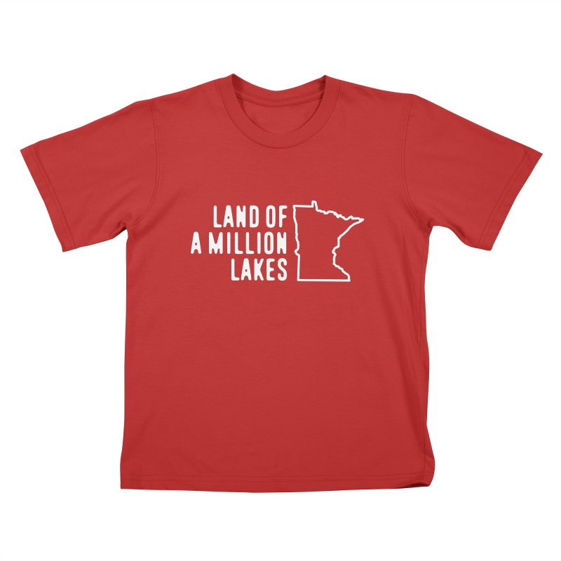 Minnesota Land of a Million Lakes Kids T-Shirt by Your Lake Apparel & Accessories