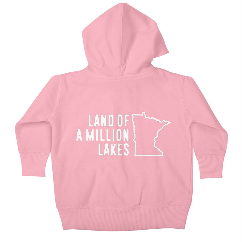 Minnesota Land of a Million Lakes Kids Baby Zip-Up Hoody by Your Lake Apparel & Accessories