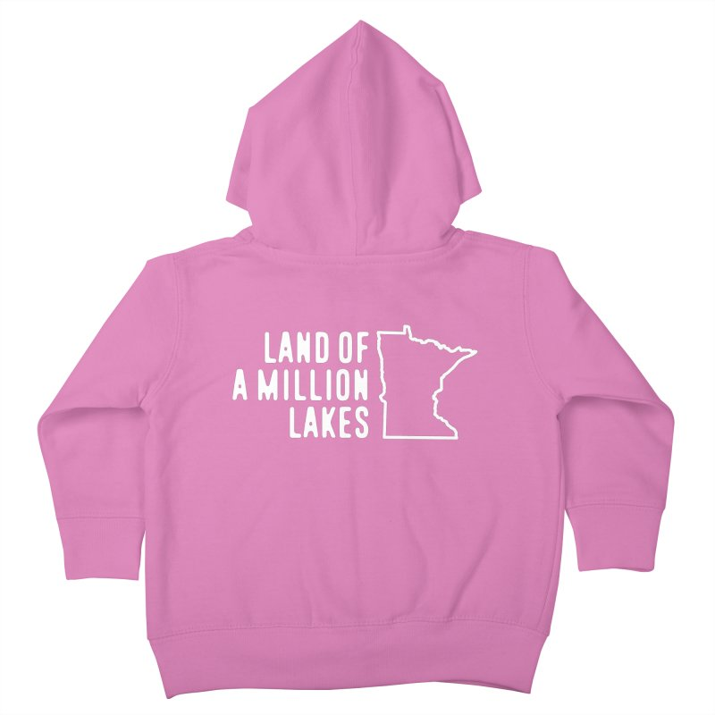 Minnesota Land of a Million Lakes Kids Toddler Zip-Up Hoody by Your Lake Apparel & Accessories