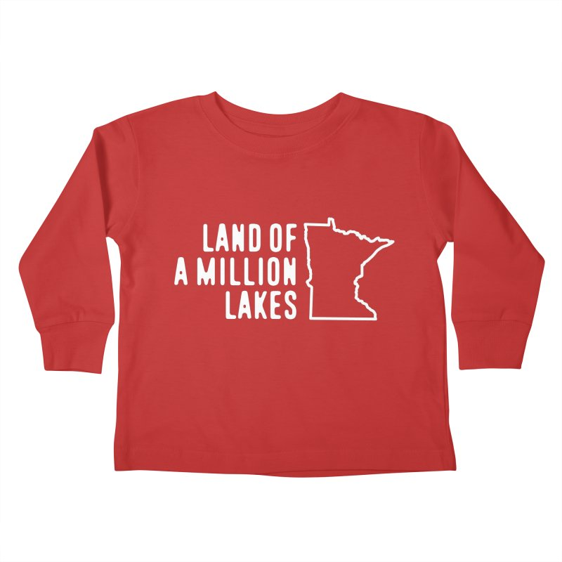 Minnesota Land of a Million Lakes Kids Toddler Longsleeve T-Shirt by Your Lake Apparel & Accessories