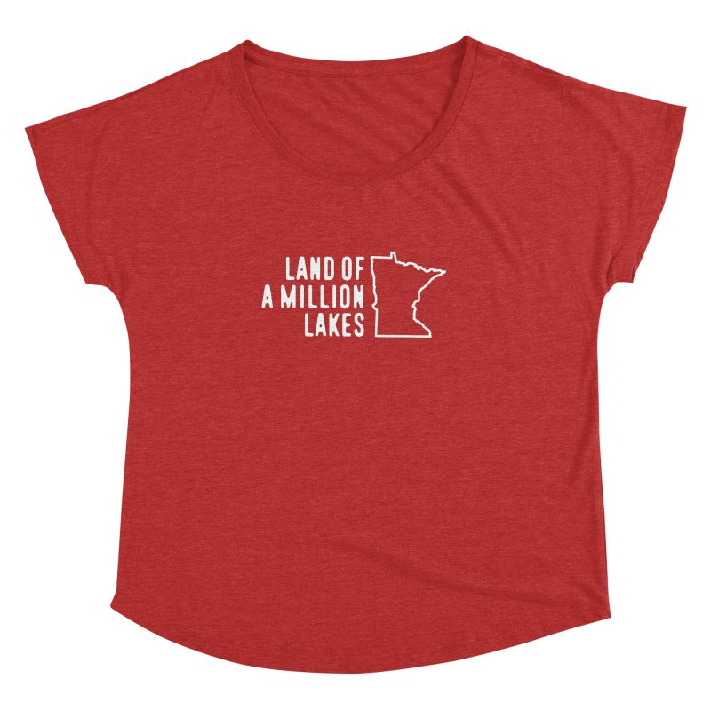 Minnesota Land of a Million Lakes Women's Dolman Scoop Neck by Your Lake Apparel & Accessories