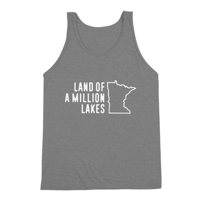 Minnesota Land of a Million Lakes Men's Triblend Tank by Your Lake Apparel & Accessories