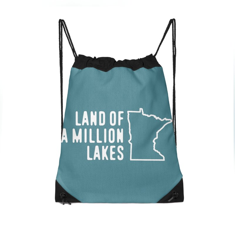 Minnesota Land of a Million Lakes Accessories Drawstring Bag Bag by Your Lake Apparel & Accessories