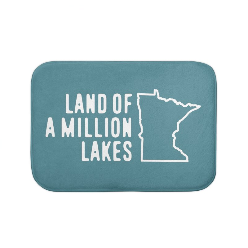 Minnesota Land of a Million Lakes Home Bath Mat by Your Lake Apparel & Accessories