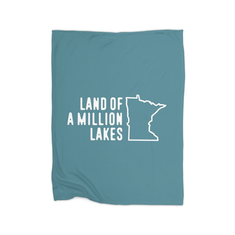 Minnesota Land of a Million Lakes Home Fleece Blanket Blanket by Your Lake Apparel & Accessories