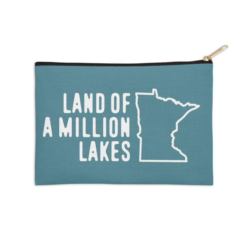 Minnesota Land of a Million Lakes Accessories Zip Pouch by Your Lake Apparel & Accessories
