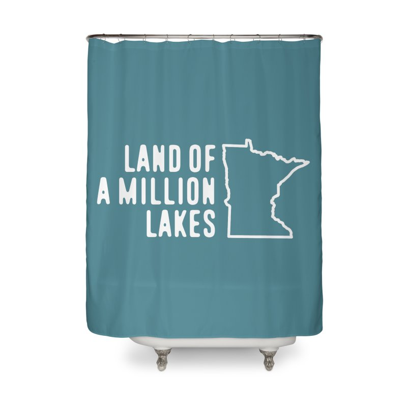 Minnesota Land of a Million Lakes Home Shower Curtain by Your Lake Apparel & Accessories