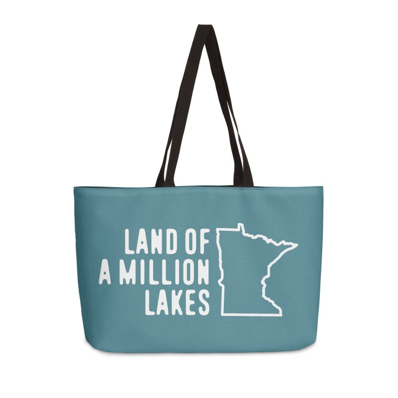 Minnesota Land of a Million Lakes Accessories Weekender Bag Bag by Your Lake Apparel & Accessories