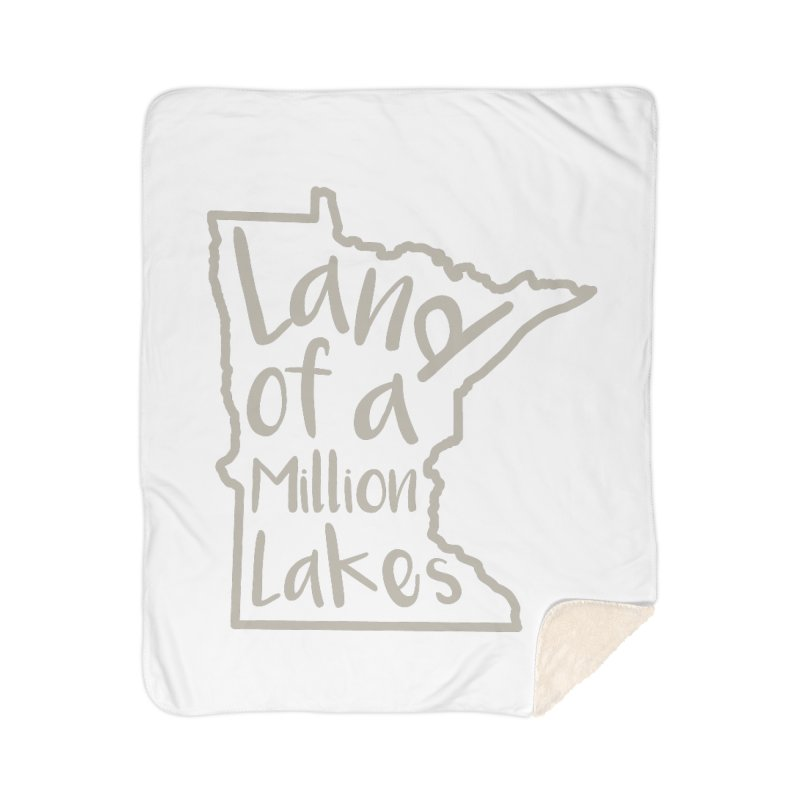 Minnesota Land of a Million Lakes 02 Home Sherpa Blanket Blanket by Your Lake Apparel & Accessories
