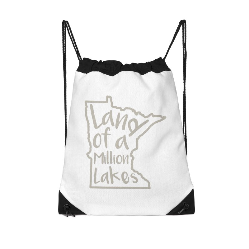 Minnesota Land of a Million Lakes 02 Accessories Drawstring Bag Bag by Your Lake Apparel & Accessories
