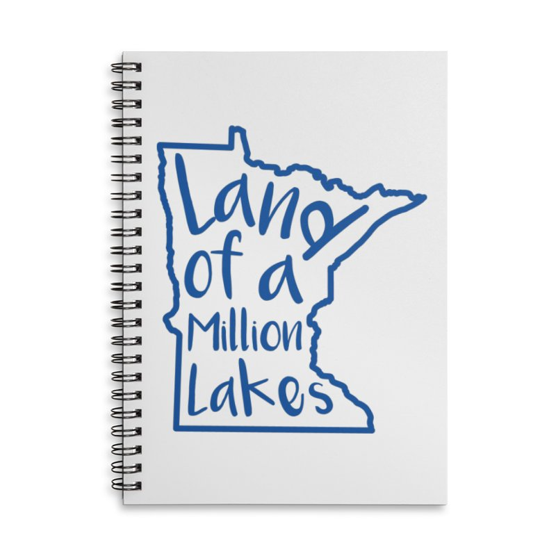 Minnesota Land of a Million Lakes 02 Accessories Lined Spiral Notebook by Your Lake Apparel & Accessories