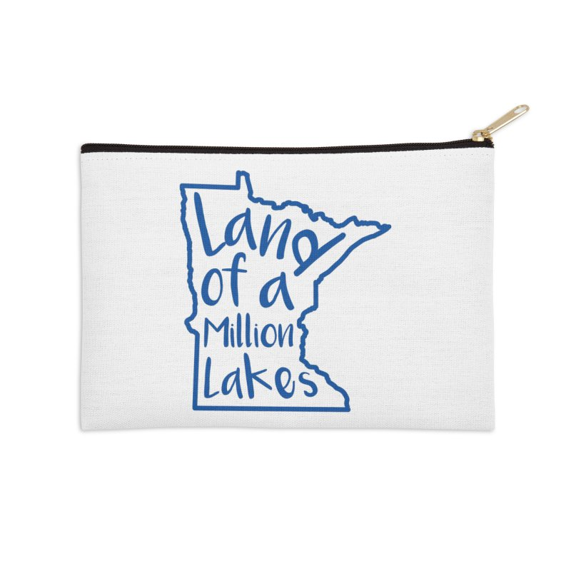 Minnesota Land of a Million Lakes 02 Accessories Zip Pouch by Your Lake Apparel & Accessories