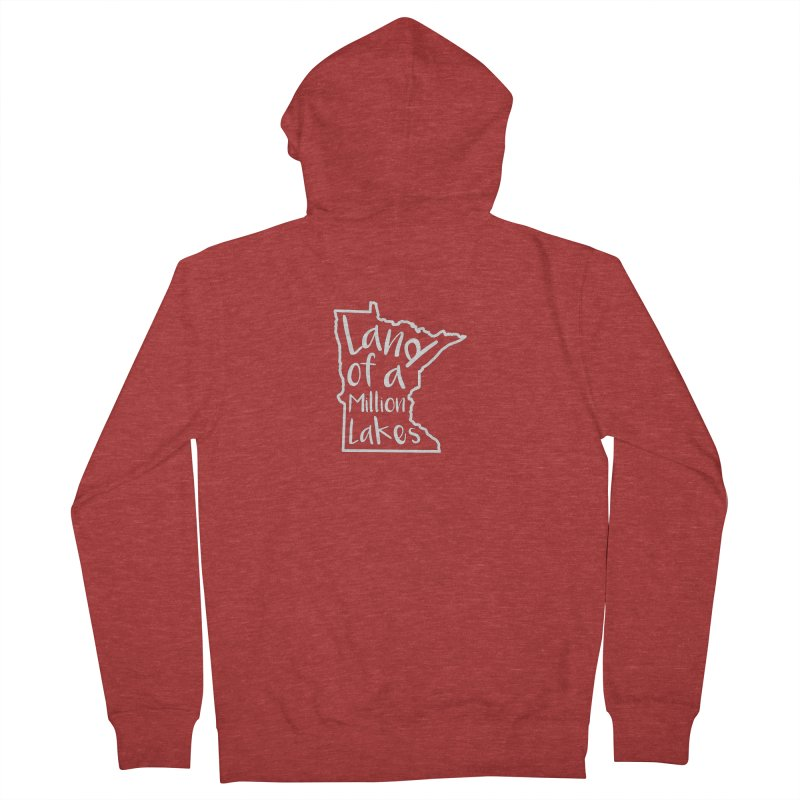 Minnesota Land of a Million Lakes 02 Women's French Terry Zip-Up Hoody by Your Lake Apparel & Accessories