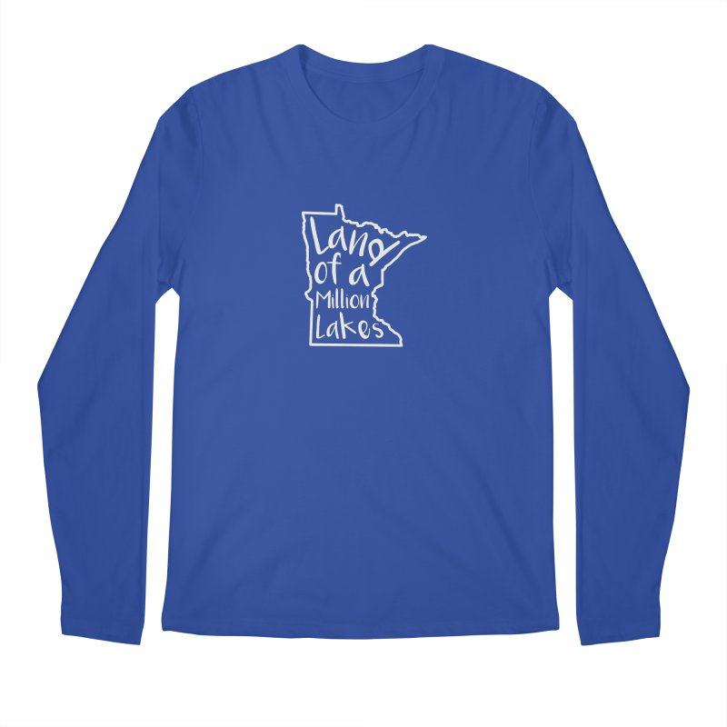 Minnesota Land of a Million Lakes 02 Men's Regular Longsleeve T-Shirt by Your Lake Apparel & Accessories