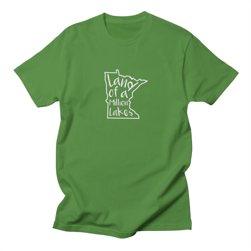 Minnesota Land of a Million Lakes 02 Women's Regular Unisex T-Shirt by Your Lake Apparel & Accessories