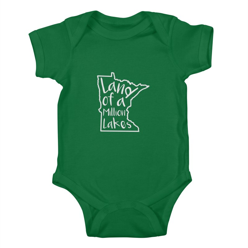 Minnesota Land of a Million Lakes 02 Kids Baby Bodysuit by Your Lake Apparel & Accessories