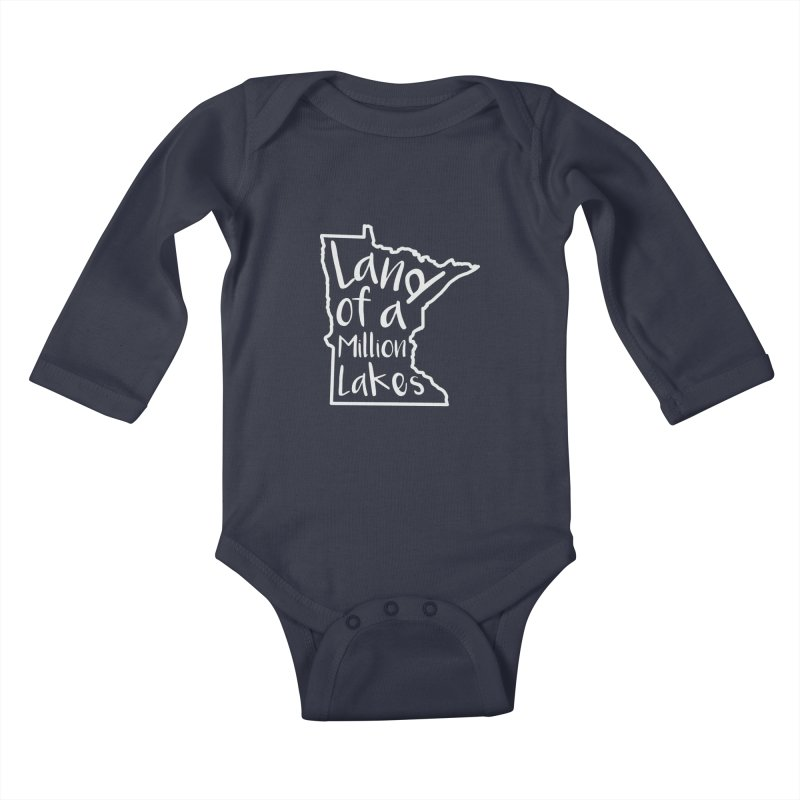 Minnesota Land of a Million Lakes 02 Kids Baby Longsleeve Bodysuit by Your Lake Apparel & Accessories
