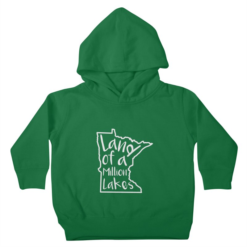 Minnesota Land of a Million Lakes 02 Kids Toddler Pullover Hoody by Your Lake Apparel & Accessories