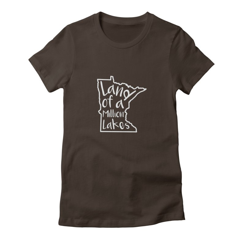 Minnesota Land of a Million Lakes 02 Women's Fitted T-Shirt by Your Lake Apparel & Accessories