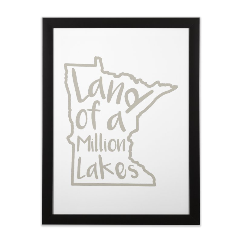 Minnesota Land of a Million Lakes 02 Home Framed Fine Art Print by Your Lake Apparel & Accessories