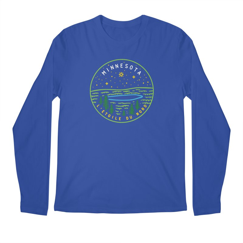 Minnesota - The North Star Men's Regular Longsleeve T-Shirt by Your Lake Apparel & Accessories
