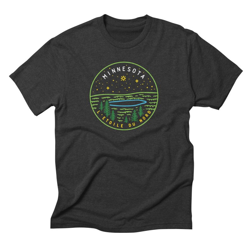 Minnesota - The North Star Men's Triblend T-Shirt by Your Lake Apparel & Accessories