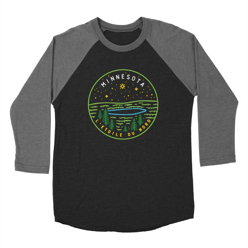 Minnesota - The North Star Men's Baseball Triblend Longsleeve T-Shirt by Your Lake Apparel & Accessories