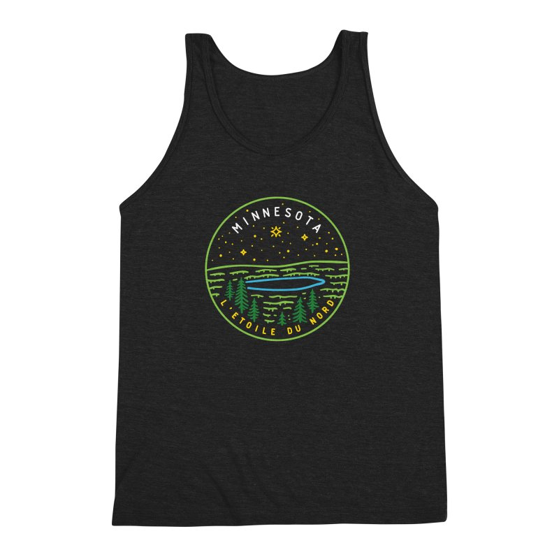 Minnesota - The North Star Men's Triblend Tank by Your Lake Apparel & Accessories