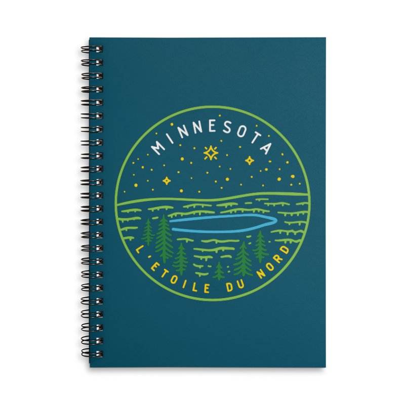 Minnesota - The North Star Accessories Lined Spiral Notebook by Your Lake Apparel & Accessories