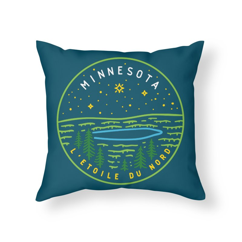 Minnesota - The North Star Home Throw Pillow by Your Lake Apparel & Accessories