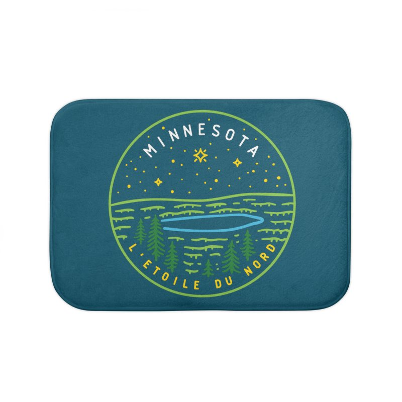 Minnesota - The North Star Home Bath Mat by Your Lake Apparel & Accessories