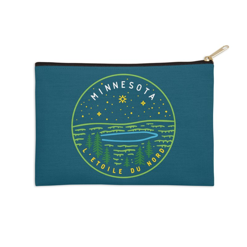 Minnesota - The North Star Accessories Zip Pouch by Your Lake Apparel & Accessories