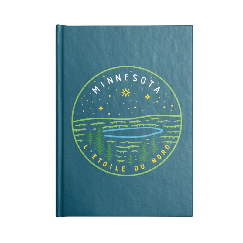 Minnesota - The North Star Accessories Blank Journal Notebook by Your Lake Apparel & Accessories